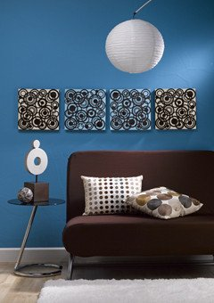 Blue and Brown Wall Decor Unique Blue and Brown Circles Wall Art