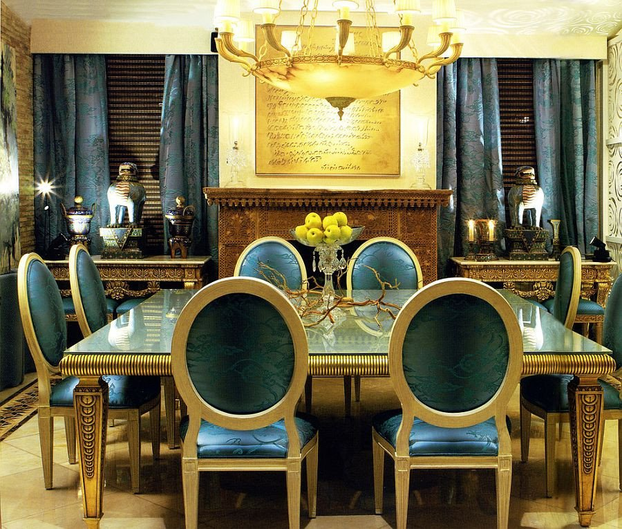 Blue and Gold Home Decor Awesome Blue Dining Rooms 18 Exquisite Inspirations Design Tips