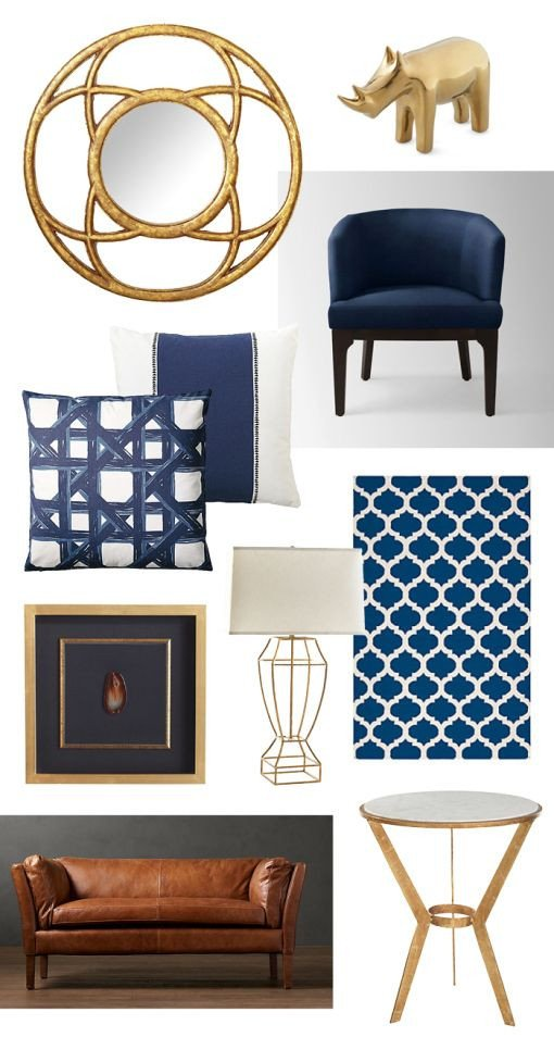 Blue and Gold Home Decor Awesome Navy and Gold Home Decor Gilt Interiors Pinterest
