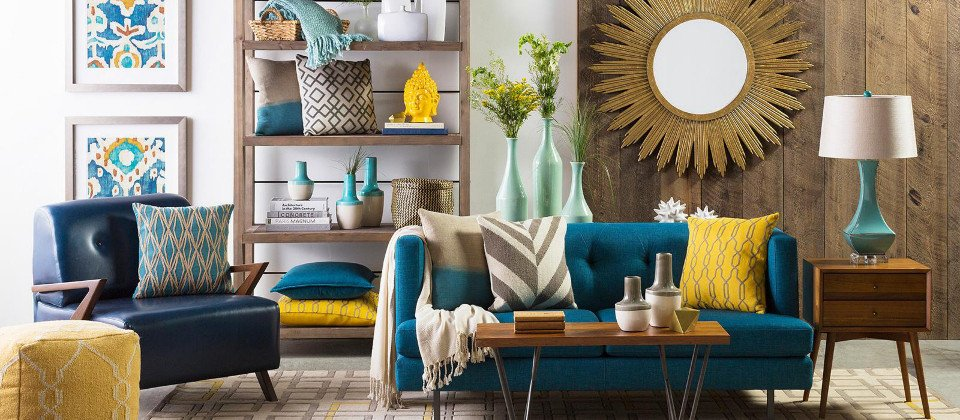 Blue and Gold Home Decor Board by Perfect Pairings