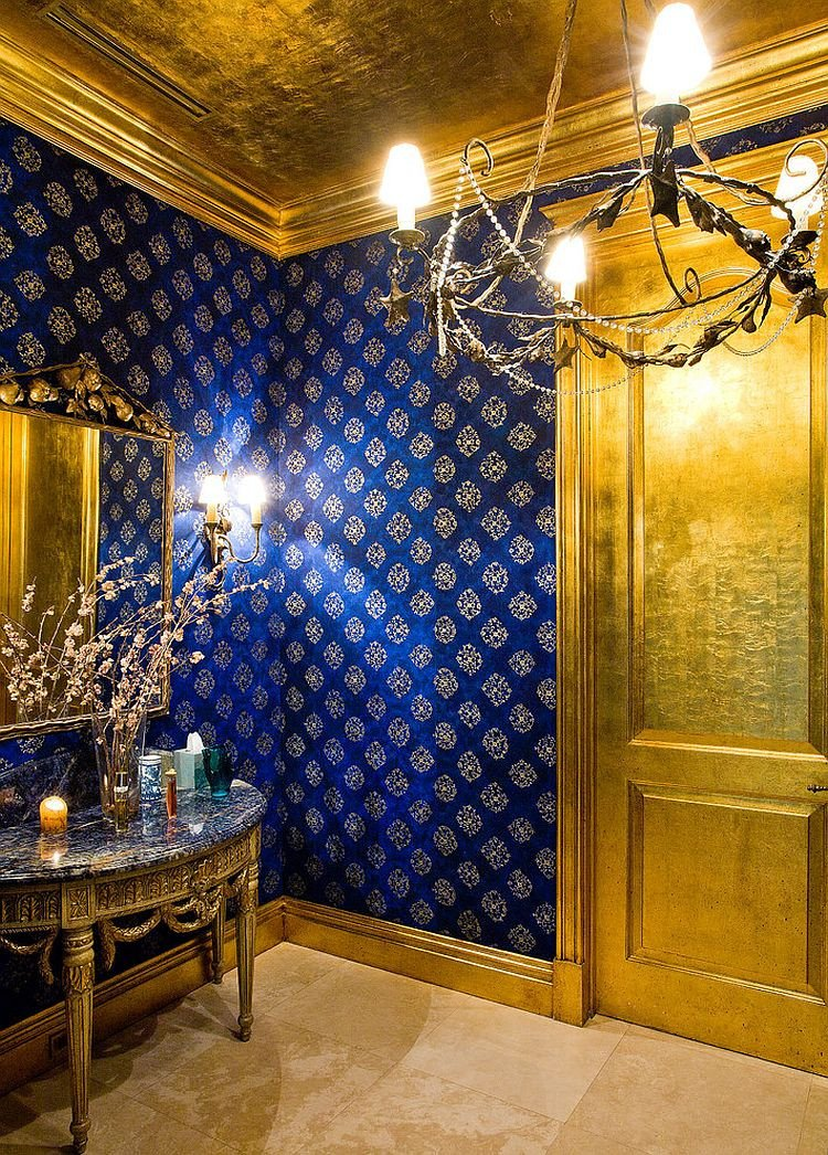 Blue and Gold Home Decor Elegant How to Design A Picture Perfect Powder Room