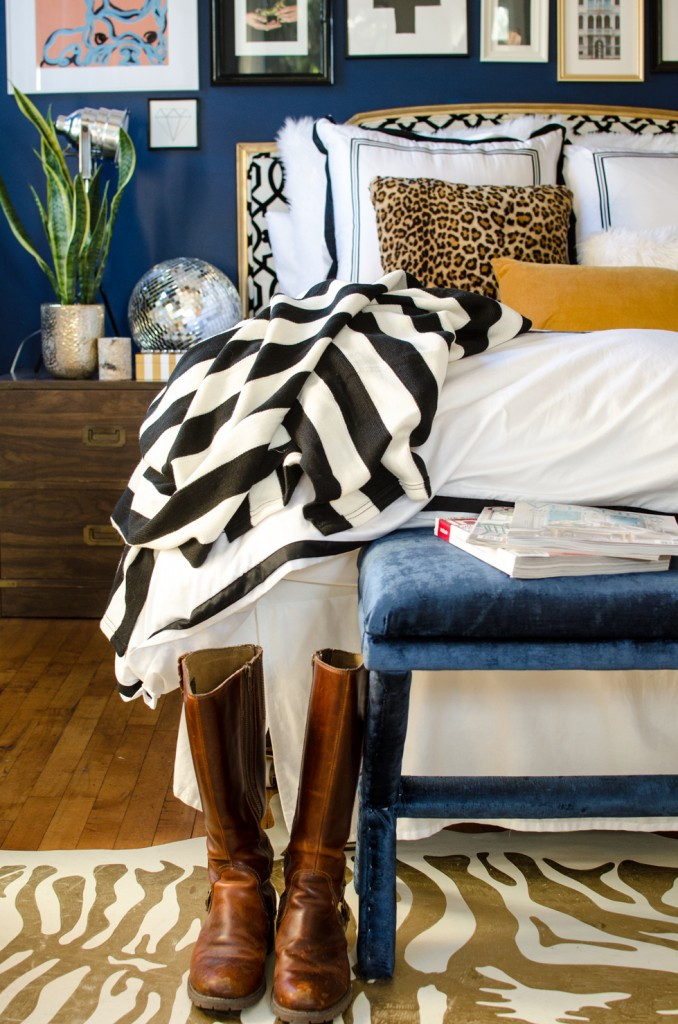 Blue and Gold Home Decor Elegant Love the Black and White Striped Blanket with Blue and Gold Home Decorating Inspiration