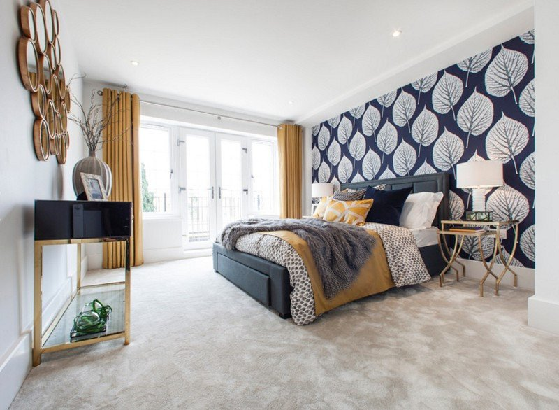 Blue and Gold Home Decor Luxury 20 Bedroom Designs with Navy Blue and Gold Accents