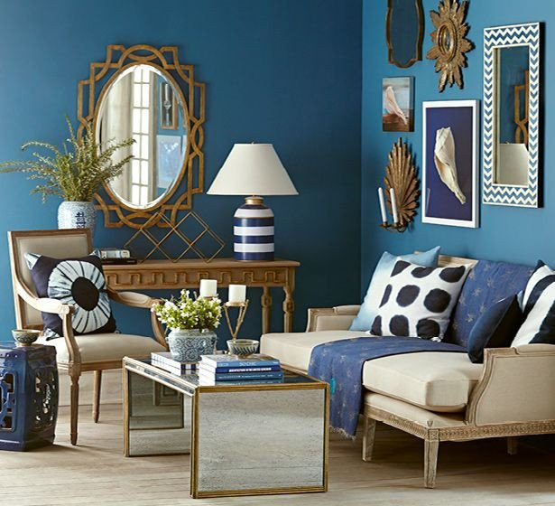 Blue and Gold Home Decor Luxury Navy & Gold Living Room Wisteria Wisteria Home Decor In 2019