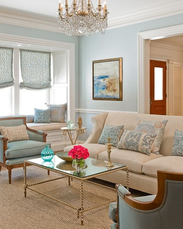 Blue and Gold Home Decor New Blue Cream Living Room Gold Accents Inspiring Living Spaces