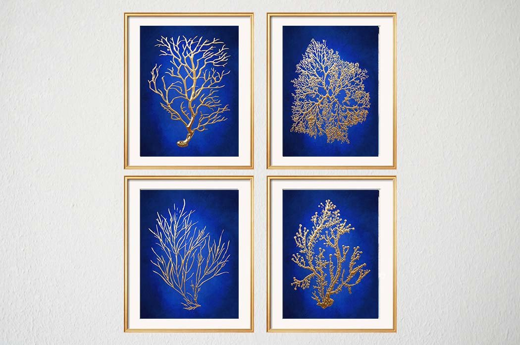 Blue and Gold Wall Decor Best Of Blue Gold Wall Art Chinoiserie Wall Art Indigo Blue Blue