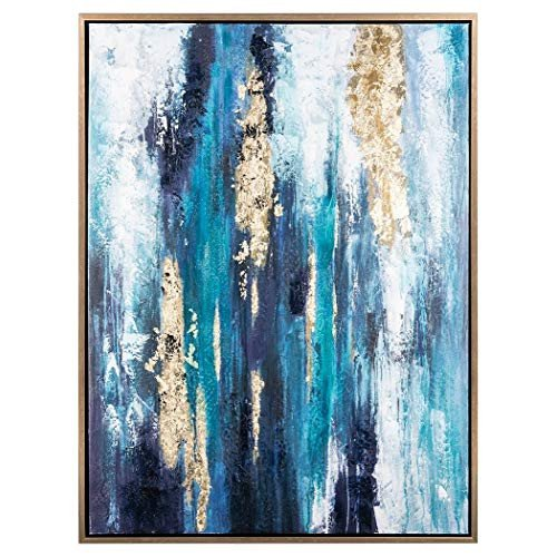 Blue and Gold Wall Decor Best Of Canvas Gold and Blue Wall Art Amazon