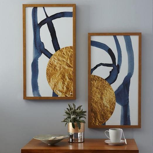 Blue and Gold Wall Decor Best Of touch Of Gold I and Ii Gray and Gold Wall Art