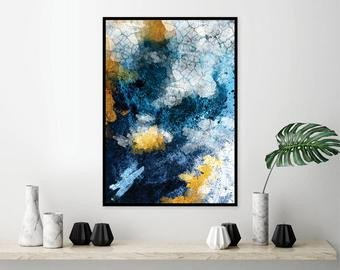 Blue and Gold Wall Decor Elegant Blue and Gold