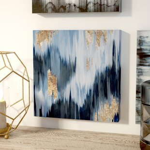 Blue and Gold Wall Decor Inspirational Metallic Wall Art You Ll Love