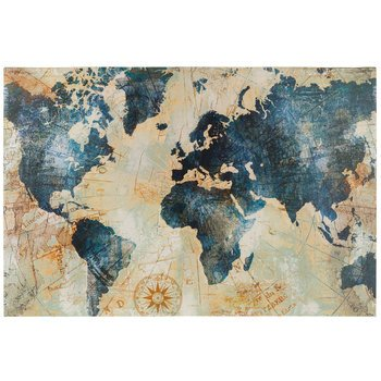 Blue and Gold Wall Decor New Blue & Gold World Map Canvas Wall Decor Hobby Lobby