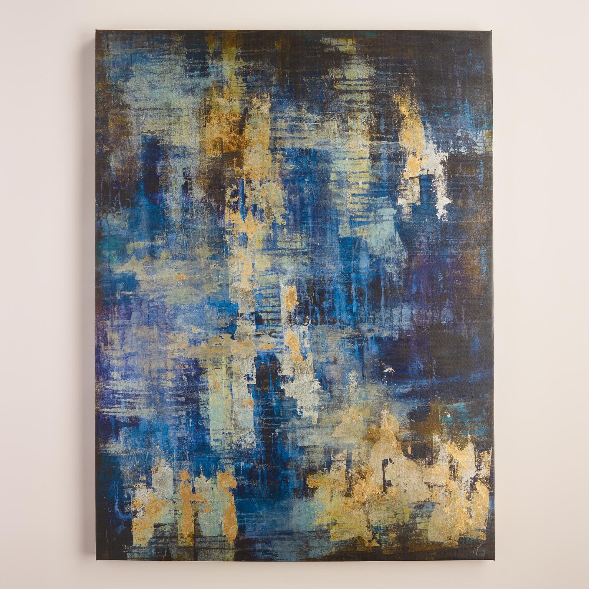 "Blue and Gold Wall Decor New ""blue and Gold Abstract"" by Liz Jardine"