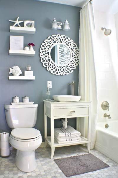 Blue and Gray Bathroom Decor Awesome 40 Stylish Small Bathroom Design Ideas Decoholic