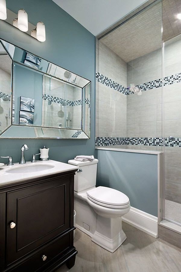 Blue and Gray Bathroom Decor Beautiful 35 Blue Grey Bathroom Tiles Ideas and Pictures Transitional Decor