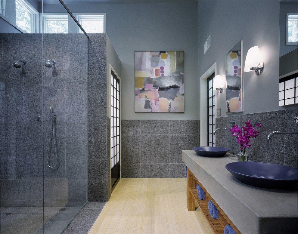 Blue and Gray Bathroom Decor Unique Blue and Grey Bathroom Ideas