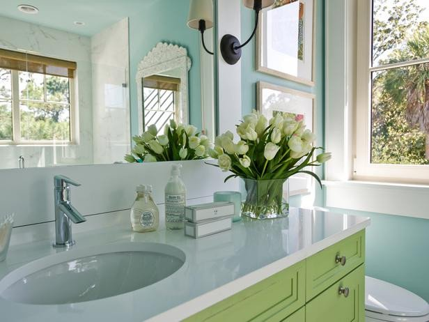 Blue and Green Bathroom Decor Best Of Green and Turquoise Blue Bathroom Cottage Bathroom Sherwin Williams Watery Hgtv