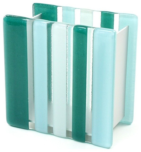 Blue and Green Bathroom Decor Fresh Light Blue or Green Glass Aluminum toothbrush Holder Light Blue Contemporary Bath and Spa