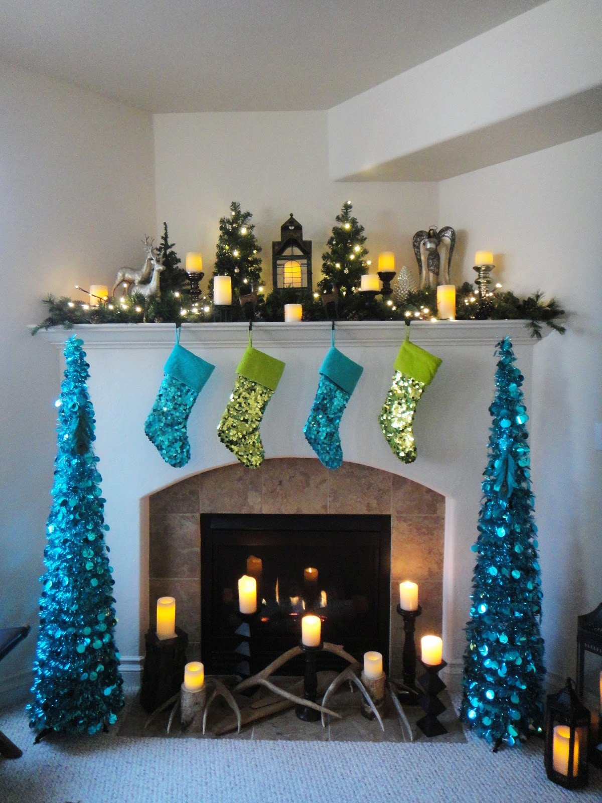 Blue and Green Christmas Decor Awesome Worth Pinning Sparkling Holiday Decor
