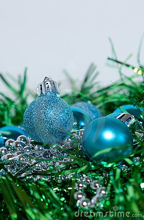 Blue and Green Christmas Decor Beautiful Blue and Green Christmas Decorations Stock Image Image