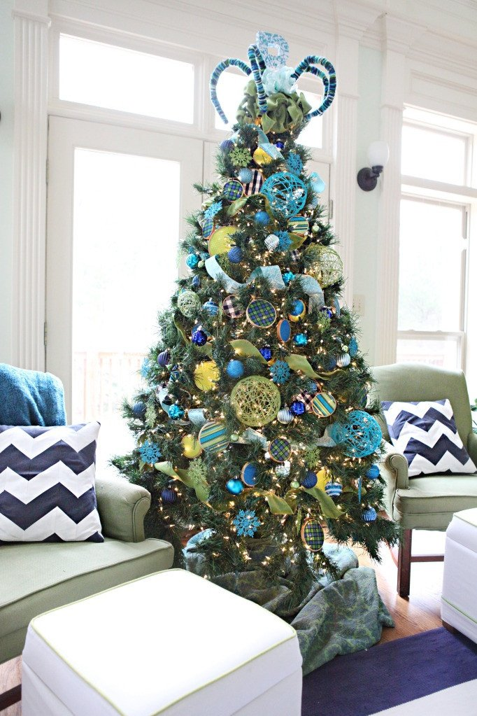 Blue and Green Christmas Decor Lovely Christmas Tree Decoration Ideas — today S Every Mom