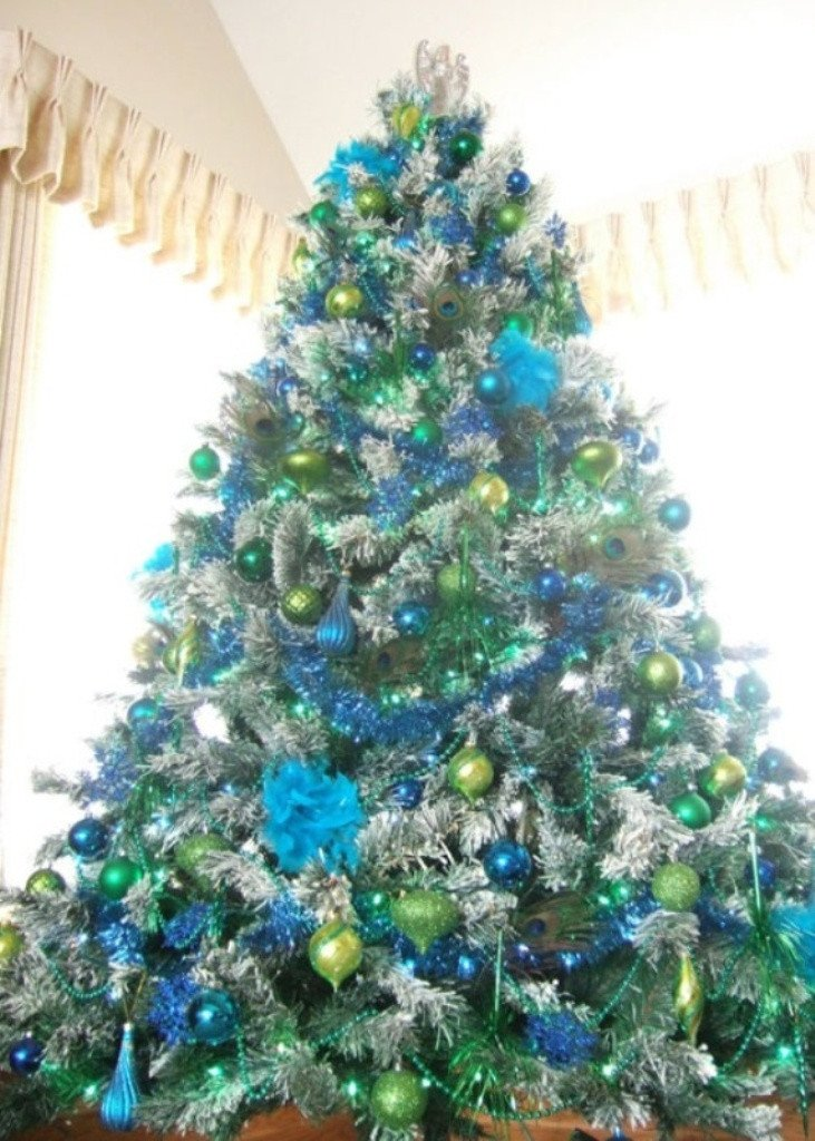 Blue and Green Christmas Decor New 25 Eye Catching Green Christmas Tree Decorations Ideas Magment