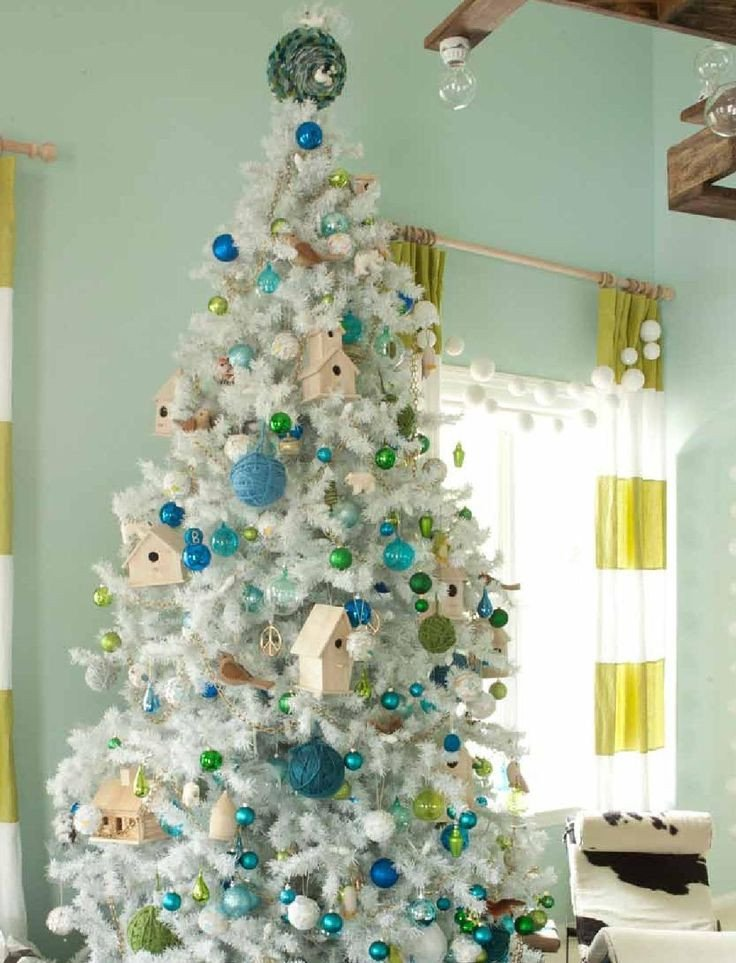 Blue and Green Christmas Decor New Remodelaholic
