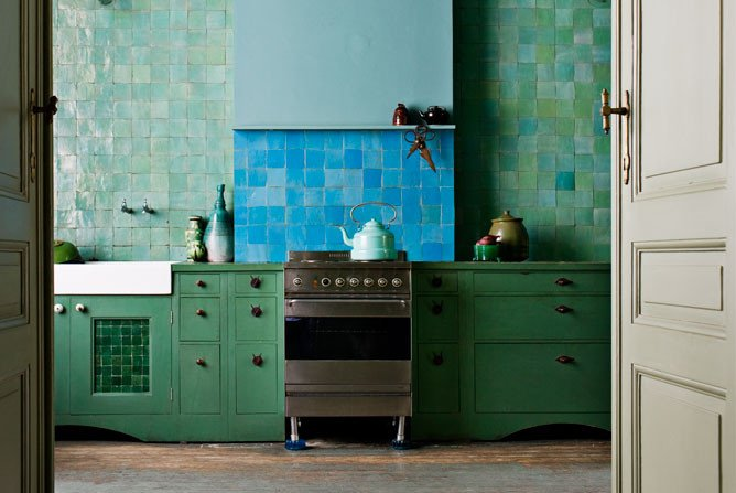 Blue and Green Kitchen Decor Best Of Kitchen Week Colorful Kitchens