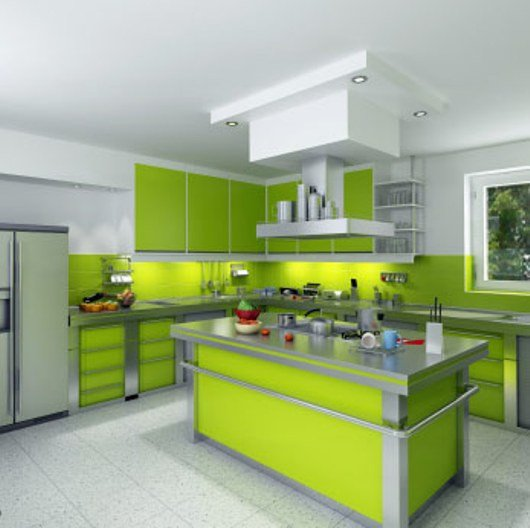 Blue and Green Kitchen Decor Best Of Kitchens In Five Colors – Red Yellow White Blue and