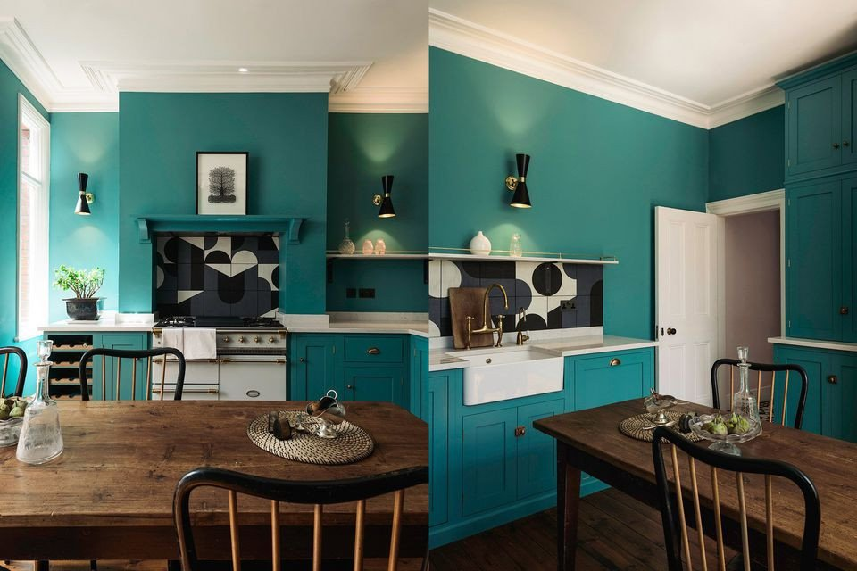 Blue and Green Kitchen Decor Elegant Beautiful Blue Kitchen Design Ideas