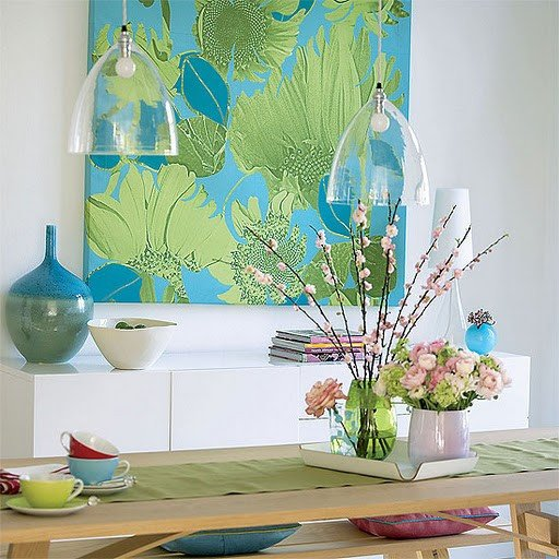 Add Splash of Color with Blue and Green Decor