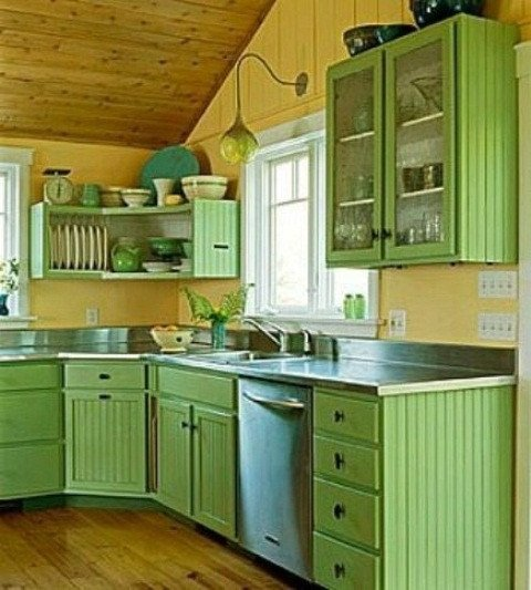 Blue and Green Kitchen Decor Fresh Cheerful Summer Interiors 50 Green and Yellow Kitchen