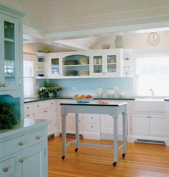 Blue and Green Kitchen Decor Fresh something Blond Blue Kitchens
