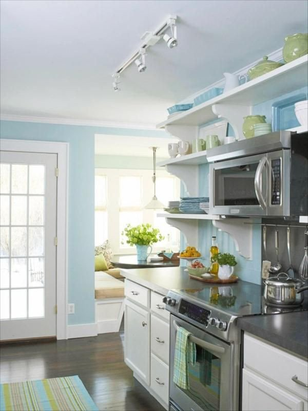 Blue and Green Kitchen Decor Inspirational Light Blue Kitchens On Pinterest