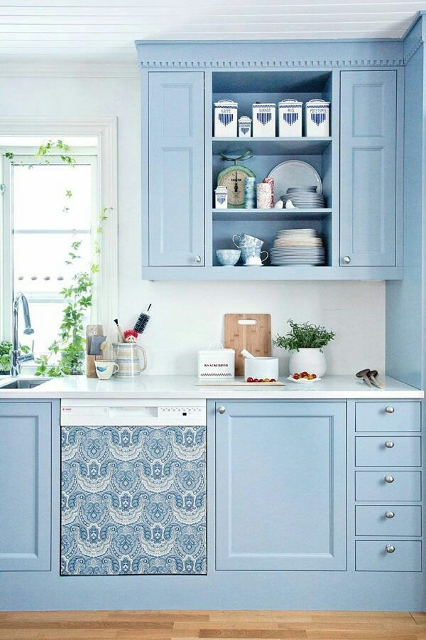 Blue and Green Kitchen Decor Lovely Sky Blue Kitchen Design Ideas