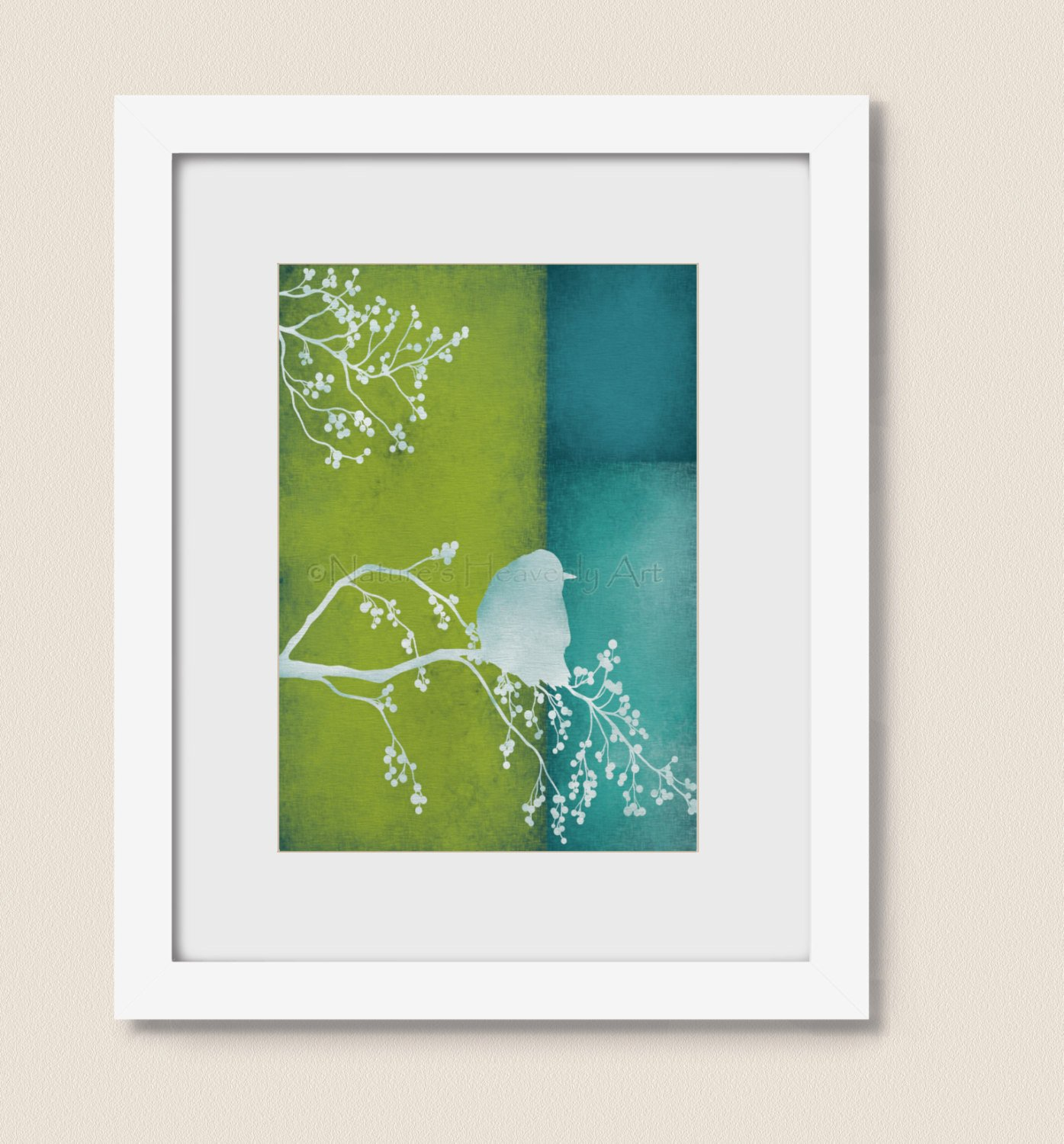 Blue and Green Wall Decor Lovely Blue and Lime Green Bird Home Wall Art Print 5 X 7 Living Room