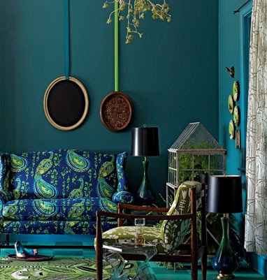 Blue and Green Wall Decor New Eye for Design Decorate Your Home with the Color Peacock Blue