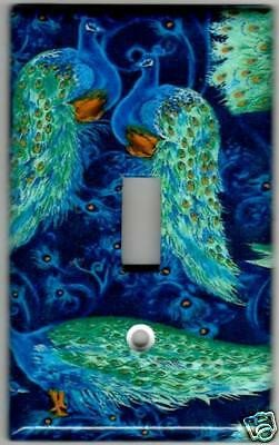 Blue and Green Wall Decor Unique Blue and Green Peacocks Home Wall Decor Single Light Switch Plate