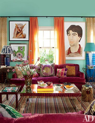 Blue and Green Wall Decor Unique Blue Green Painted Room Inspiration Architectural Digest