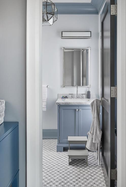 Blue and Grey Bathroom Decor Lovely Light Gray and Blue Bathroom Color Scheme Transitional Bathroom