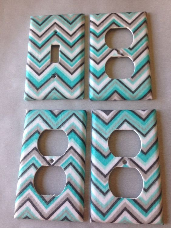 Blue and Grey Bathroom Decor Unique Light Switch Covers Light Switches and Gray Chevron On Pinterest