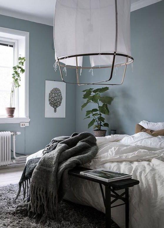 Blue and Grey Wall Decor Elegant Blue Grey Bedroom Via Coco Lapine Design Bedroom Pinterest