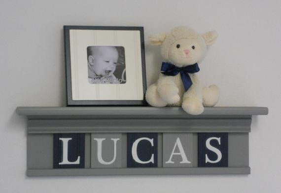Blue and Grey Wall Decor Elegant Navy Blue and Gray Baby Nursery Wall Decor Room Decor