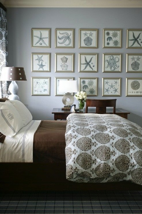 Blue and Grey Wall Decor Lovely Brown and Gray Bedrooms Cottage Bedroom Sherwin Williams Silvermist tobi Fairley