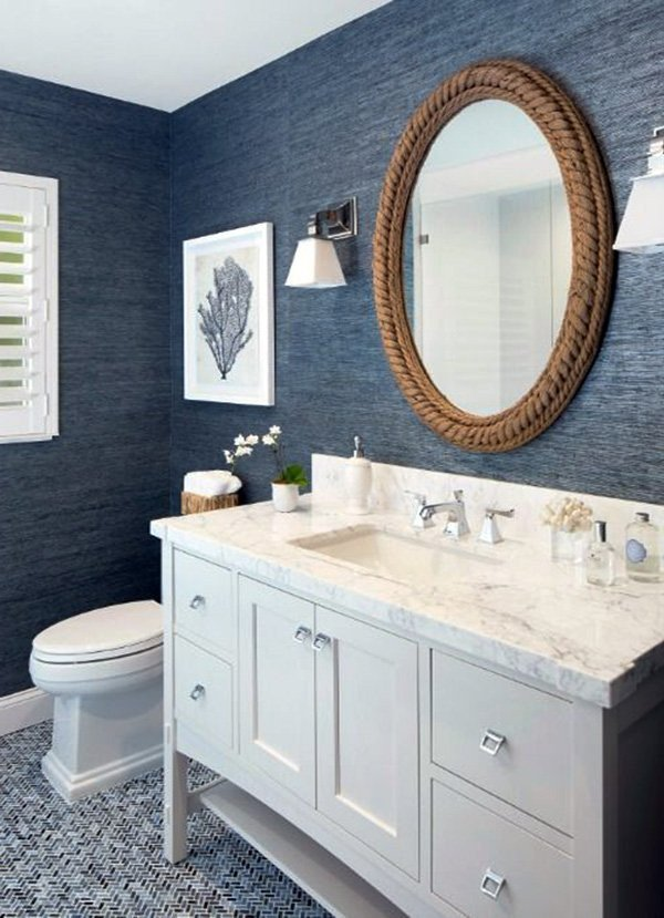 Blue and White Bathroom Decor Awesome Decorating Bathroom with Blue and White