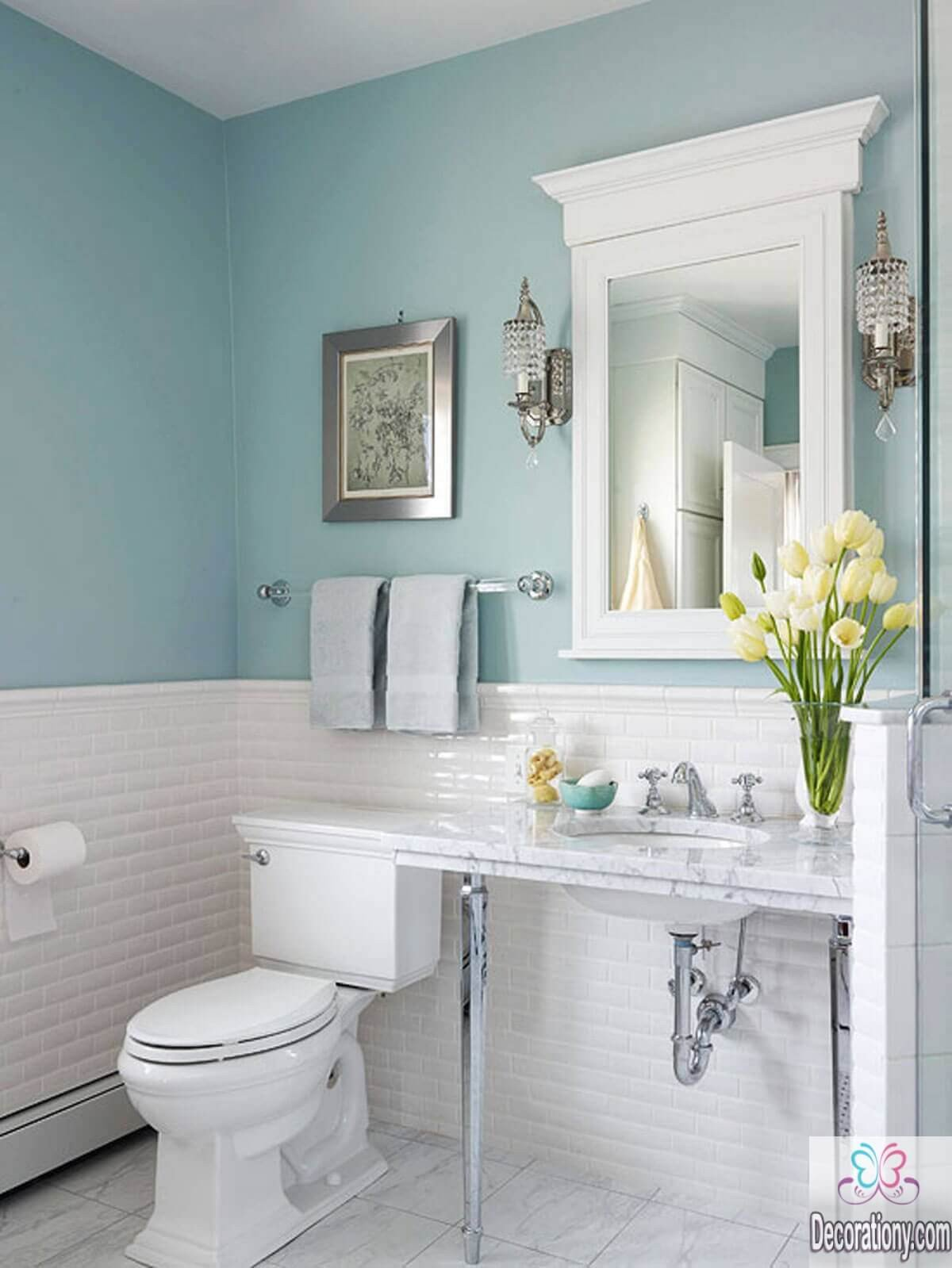Blue and White Bathroom Decor Best Of 10 Affordable Colors for Small Bathrooms