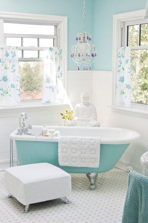 Blue and White Bathroom Decor Best Of Light Aqua Blue White Bathroom