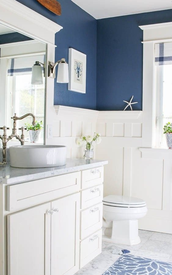 Blue and White Bathroom Decor Best Of Navy Blue and White Bathroom Bathrooms