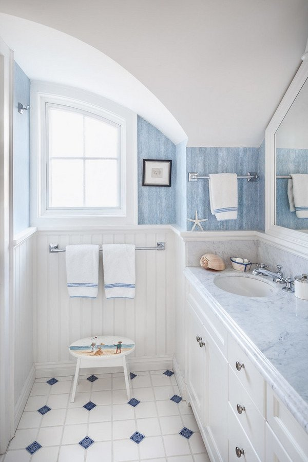 Blue and White Bathroom Decor Elegant Bathroom Wainscoting the Finishing touch to Your Bathroom Design