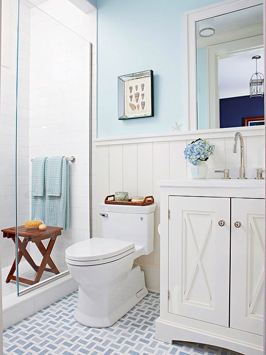 Blue and White Bathroom Decor Lovely Bathroom tour Blue & White Cottage Style