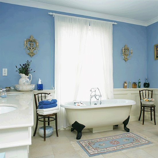 Blue and White Bathroom Decor Lovely Remodel Your Blue Bathroom with New Accessories Messagenote